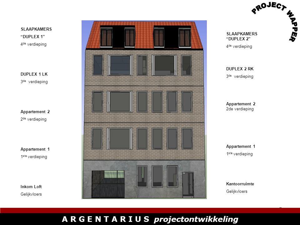 6 A R G E N T A R I U S projectontwikkeling GELIJKVLOERS KANTOORRUIMTE A R G E N T A R I U S projectontwikkeling Totale oppervlakte van de kantoorruimte: 85 m² Kantoorruimte is verbonden aan de loft.
