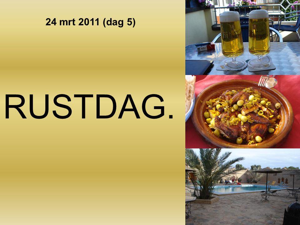 Gezamenlijk ontbijt om 07.00 uur. Vertrek om 08.00 uur. 1 uur asfalt. 6 ½ uur off-road. Lunch in Foum Zquid van 12.00 tot 13.00 uur. Aankomst Ouarzaza