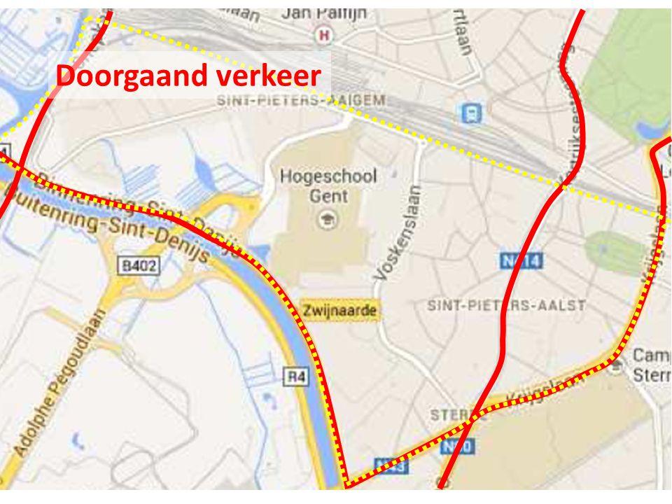 Doorgaand verkeer naar Sint-Pietersstation