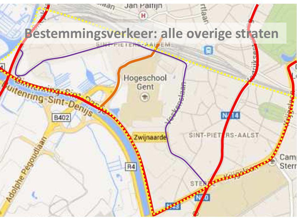 Bestemmingsverkeer: alle overige straten