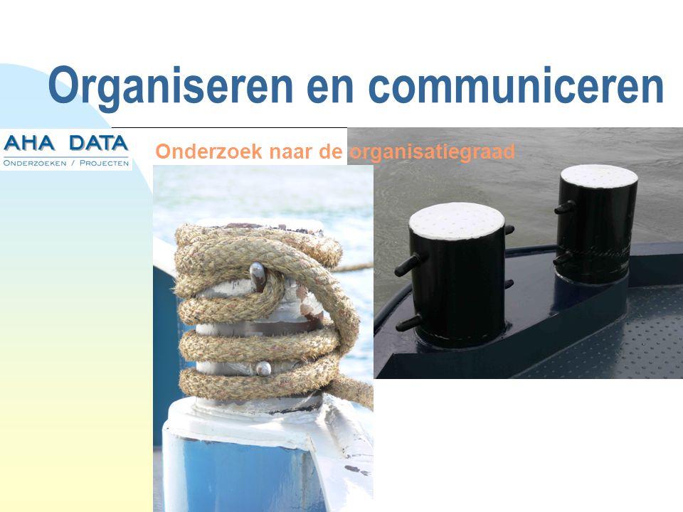 Organiseren en communiceren Onderzoek naar de organisatiegraad