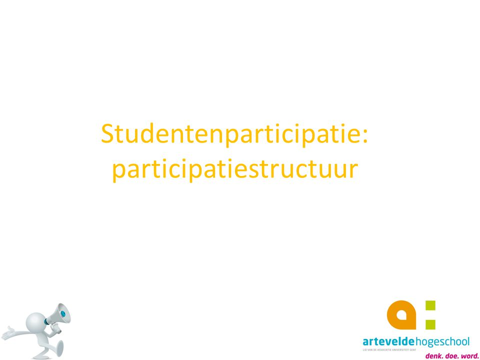 Studentenparticipatie: participatiestructuur