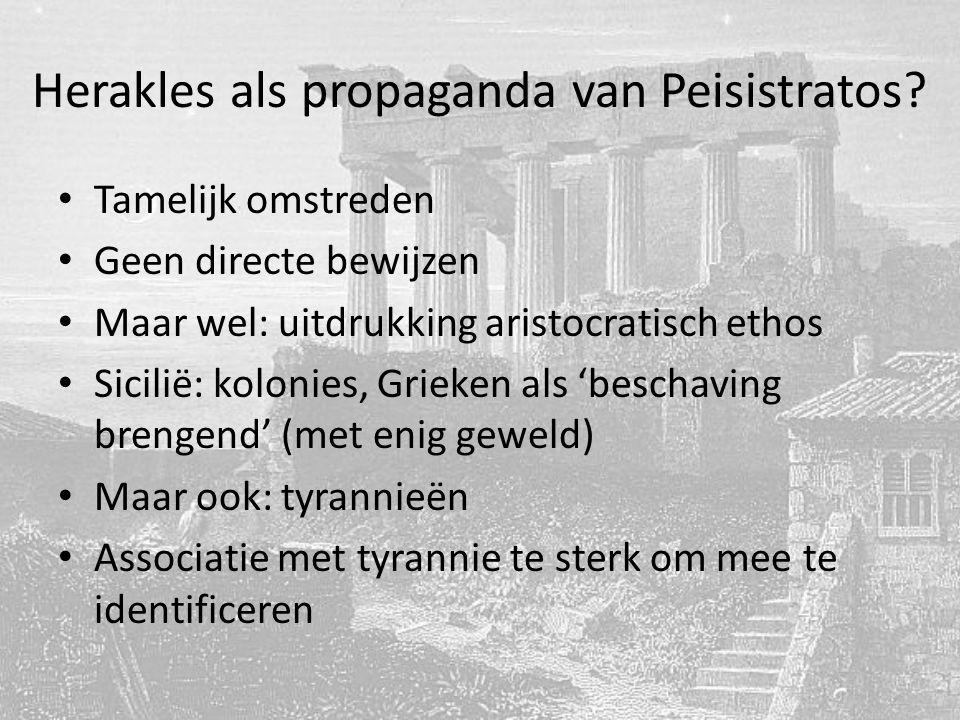 Herakles als propaganda van Peisistratos.