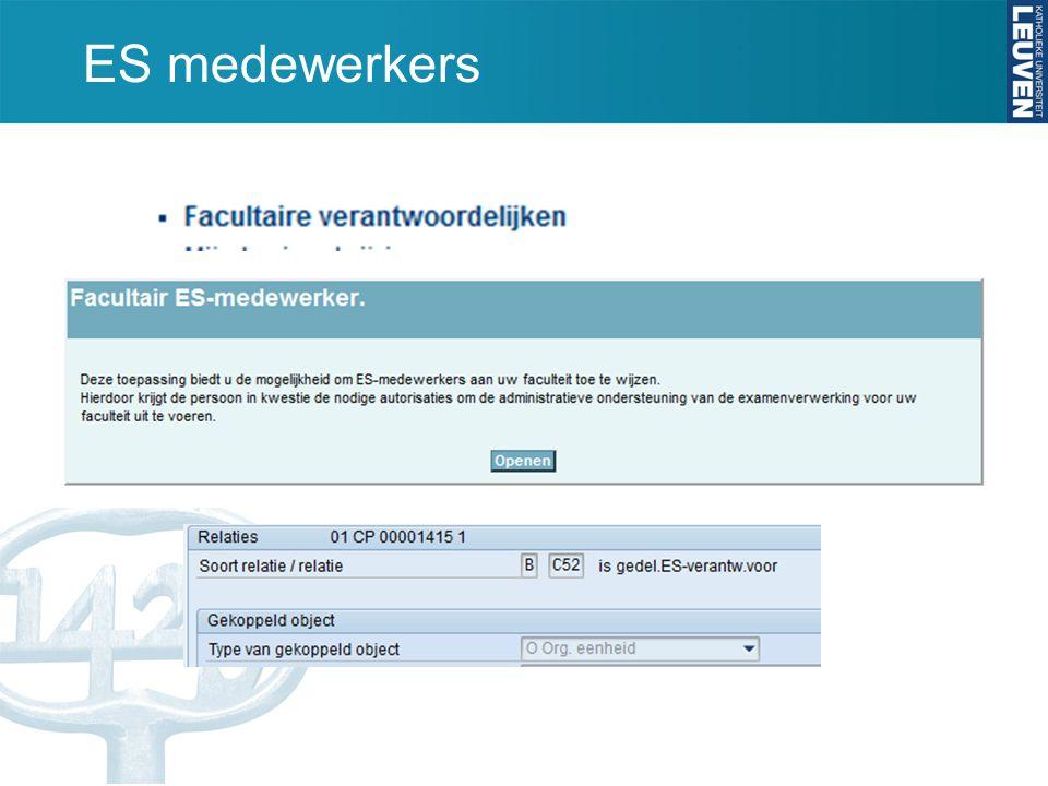 ES medewerkers