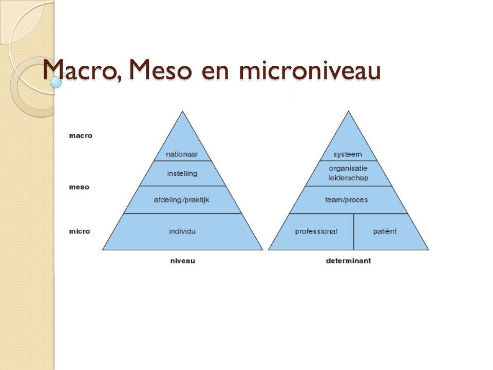 Macro, Meso en microniveau