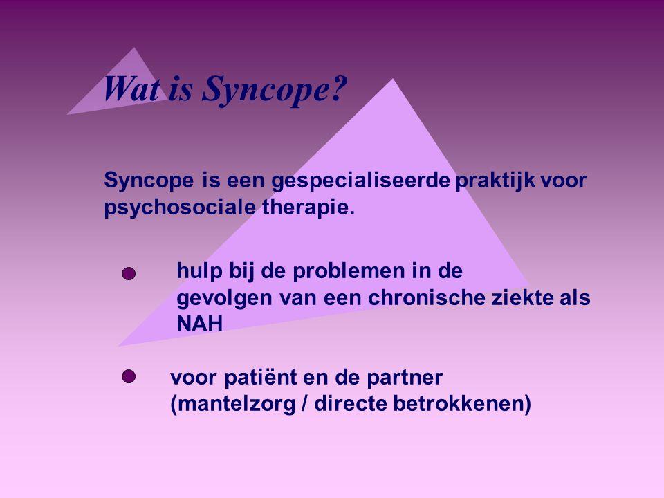 Syncope is een gespecialiseerde praktijk voor psychosociale therapie.