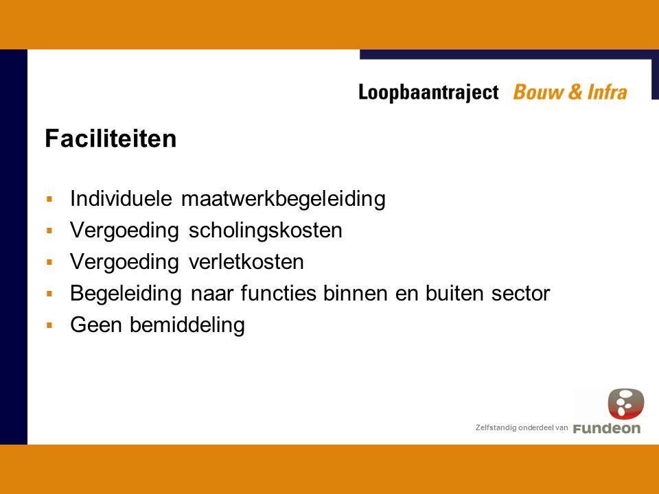 Voorwaarden deelname  CAO bouwnijverheid + premieafdracht  Doel = functiewisseling  Vrijwillige deelname  Overeenstemming traject werkgever + werknemer Zelfstandig onderdeel van