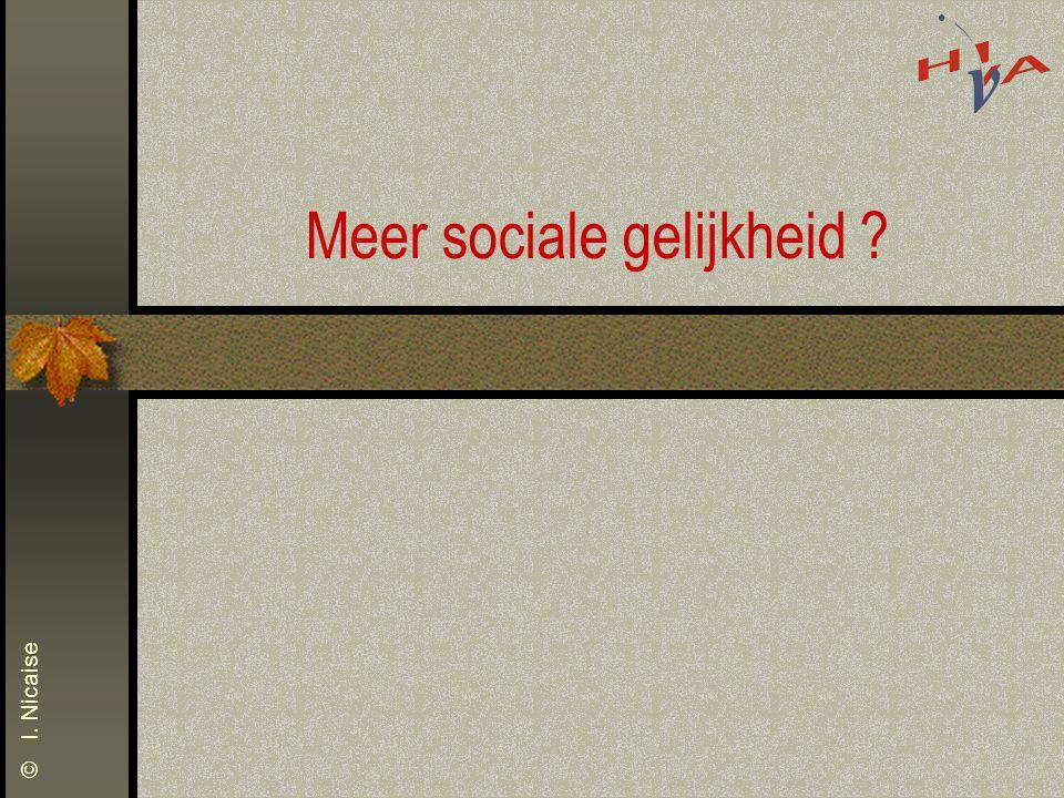 © I. Nicaise Meer sociale gelijkheid ?