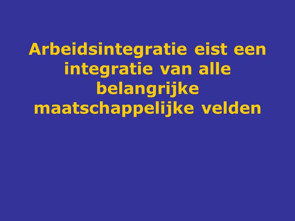 Arbeidsintegratie eist een integratie van alle belangrijke maatschappelijke velden