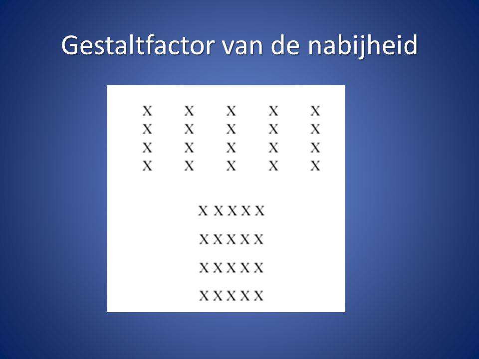 Gestaltfactor van de nabijheid