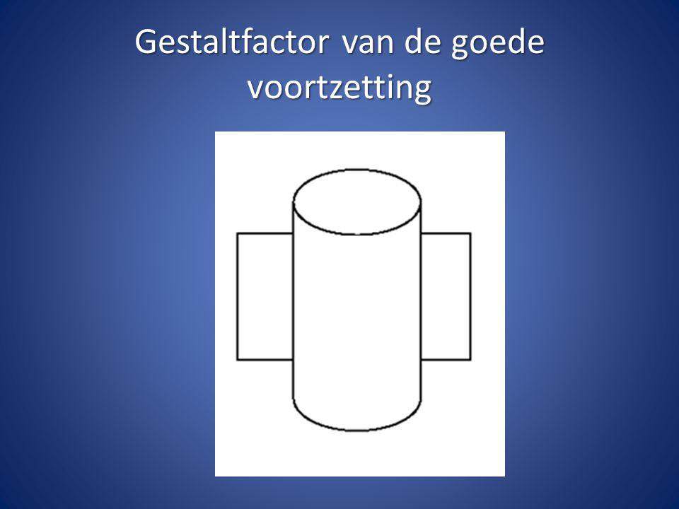 Gestaltfactor van de goede voortzetting