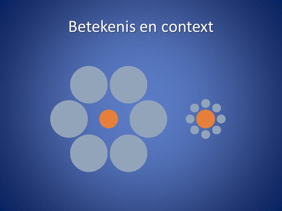 Betekenis en context