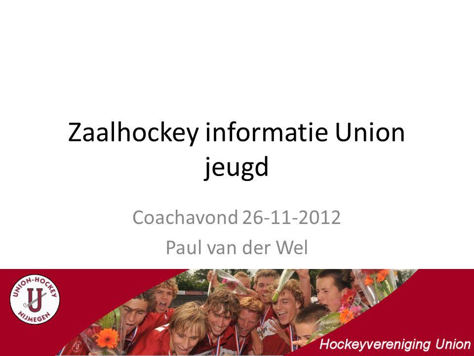 Zaalhockey informatie Union jeugd Coachavond 26-11-2012 Paul van der Wel