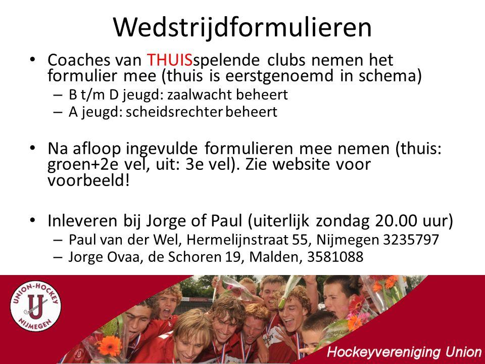 Hallen: Onze thuishallen zijn: – de Veldschuur in Malden – Jan Massink hal in Nijmegen – Universitair SportCentrum in Nijmegen