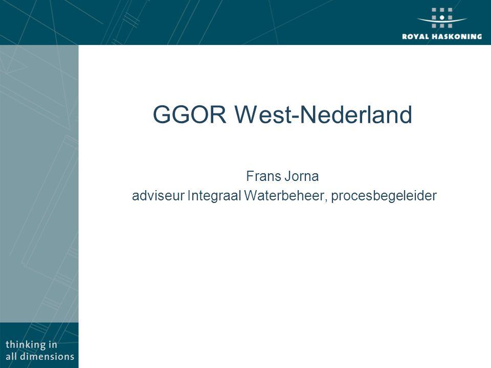 GGOR West-Nederland Frans Jorna adviseur Integraal Waterbeheer, procesbegeleider