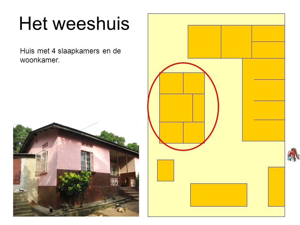Het weeshuis Huis met 4 slaapkamers en de woonkamer.