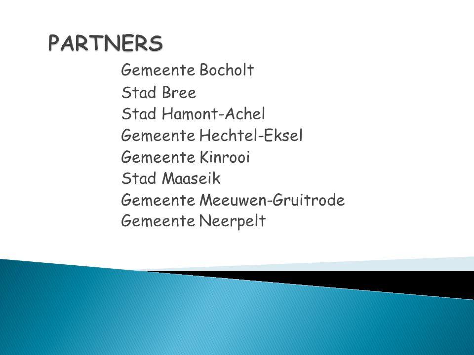 Gemeente Bocholt Stad Bree Stad Hamont-Achel Gemeente Hechtel-Eksel Gemeente Kinrooi Stad Maaseik Gemeente Meeuwen-Gruitrode Gemeente Neerpelt