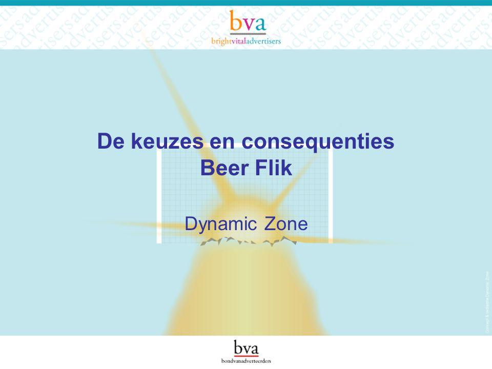 De keuzes en consequenties Beer Flik Dynamic Zone