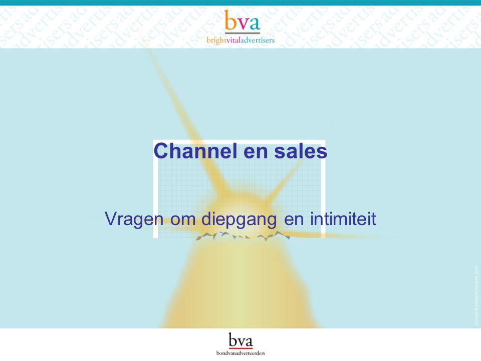 Channel en sales Vragen om diepgang en intimiteit