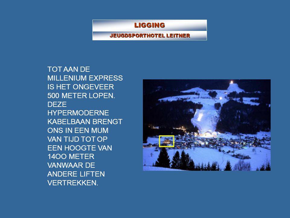 LIGGING JEUGDSPORTHOTEL LEITNER TOT AAN DE MILLENIUM EXPRESS IS HET ONGEVEER 500 METER LOPEN.