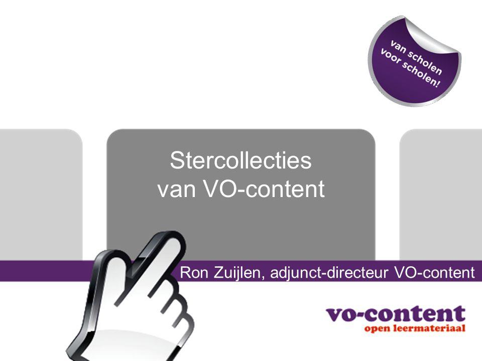 Ondersteuning Docententips Module Stercollecties: eind september Trainingen –Verkennen Stercollecties –Gebruiken Stercollecties –Leermiddelenbeleid Helpdesk –helpdesk@vo-content.nlhelpdesk@vo-content.nl