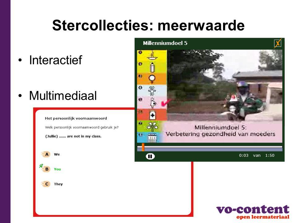 Stercollecties: geordend Leerlijn  jaarplan Gemetadateerd  vindbaar in Wikiwijs