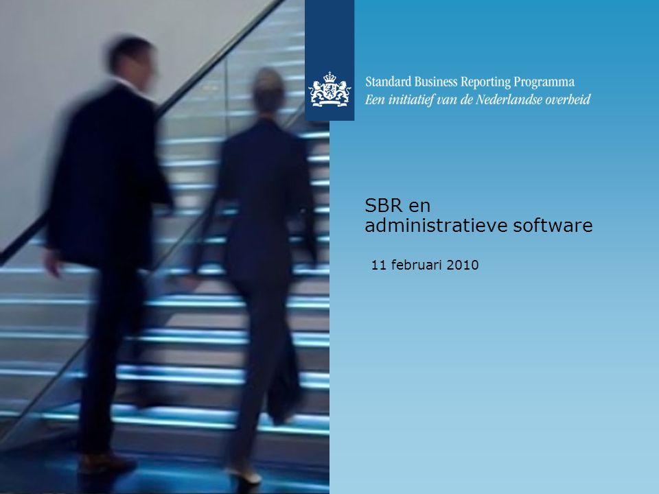 SBR en administratieve software 11 februari 2010