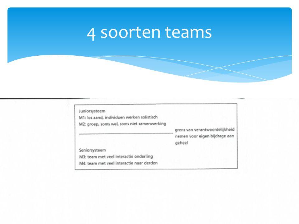 4 soorten teams