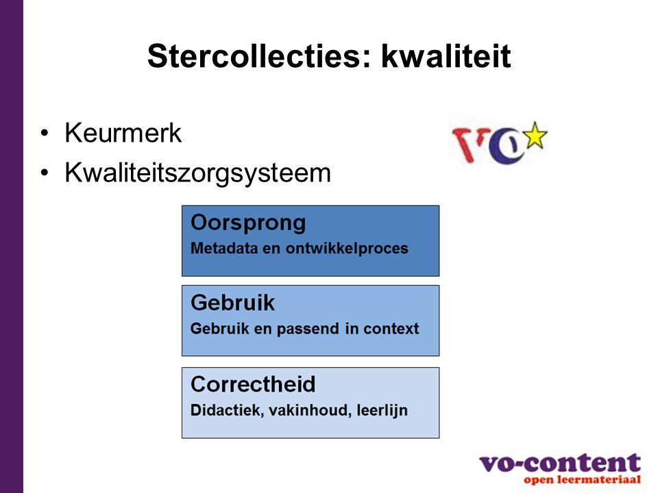 Stercollecties: kwaliteit Keurmerk Kwaliteitszorgsysteem