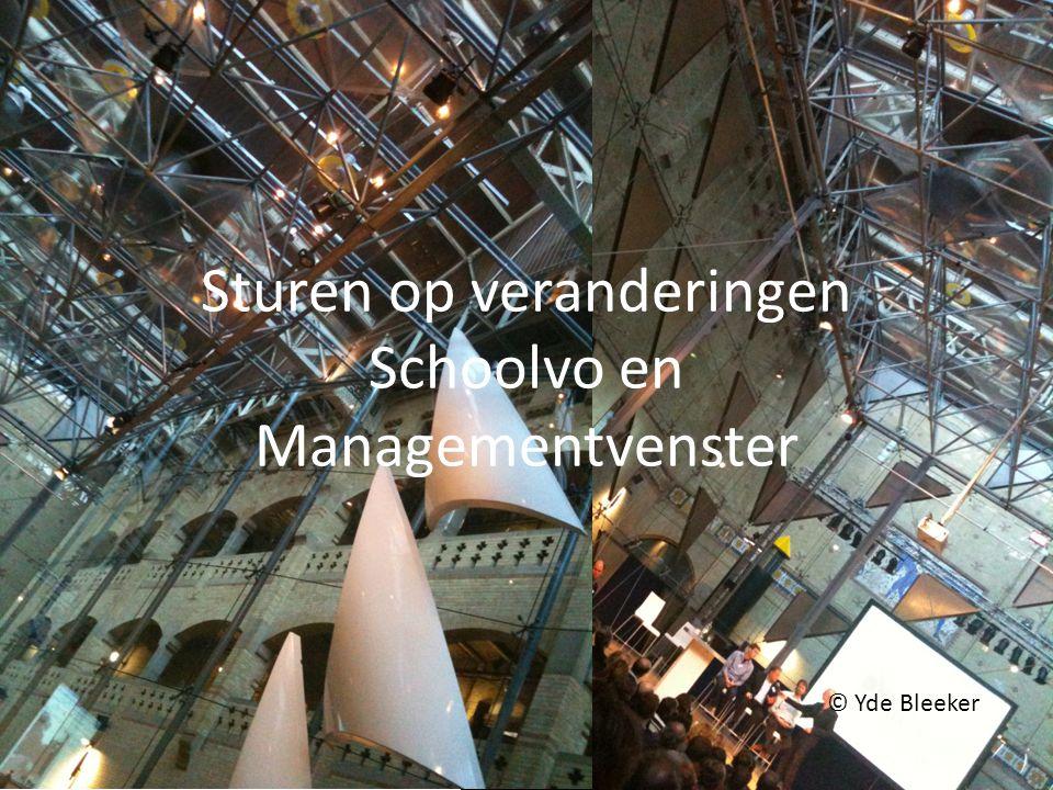 Sturen op veranderingen Schoolvo en Managementvenster © Yde Bleeker