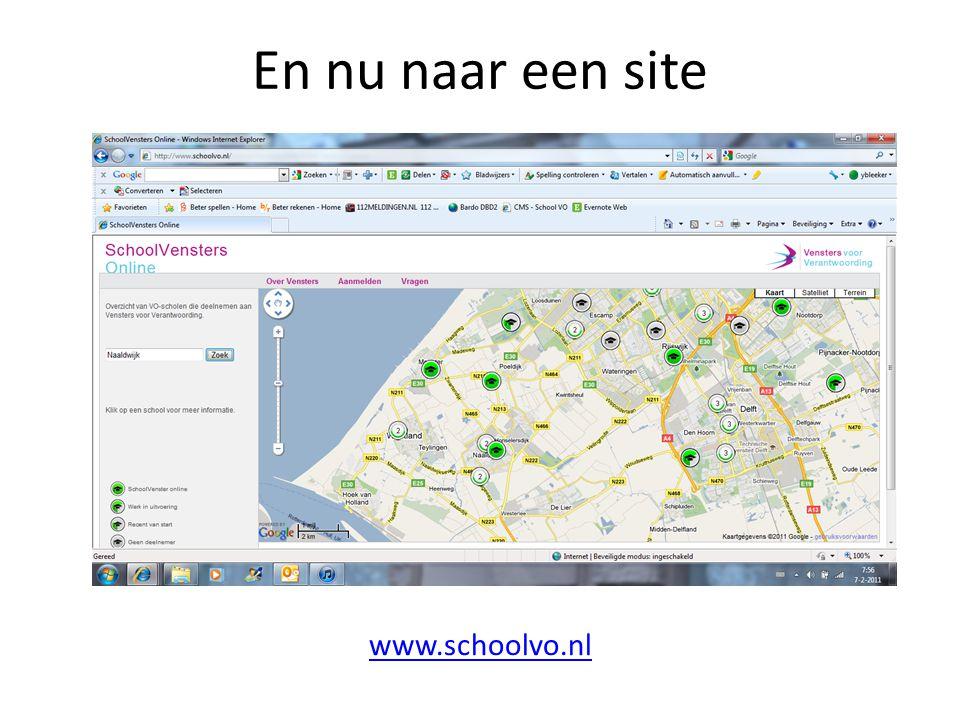 www.schoolvo.nl En nu naar een site