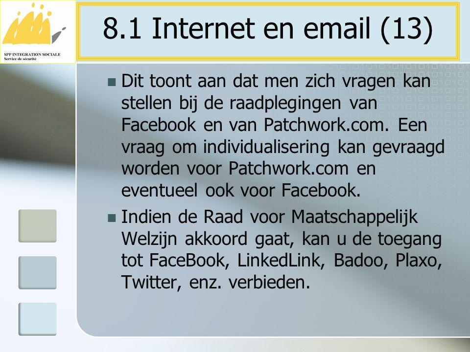 Dit toont aan dat men zich vragen kan stellen bij de raadplegingen van Facebook en van Patchwork.com. Een vraag om individualisering kan gevraagd word