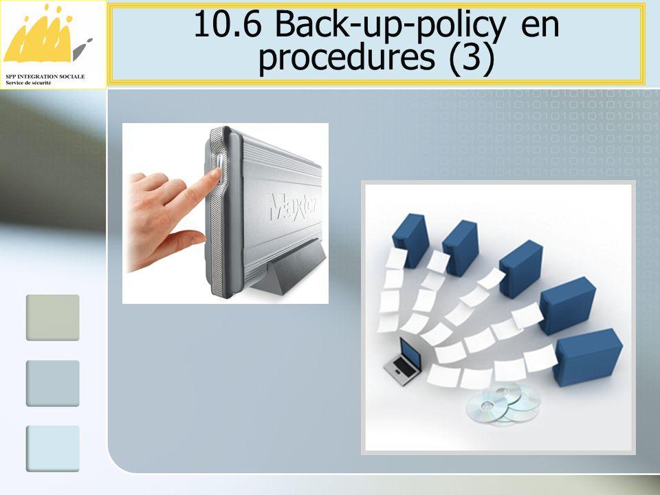 10.6 Back-up-policy en procedures (3)