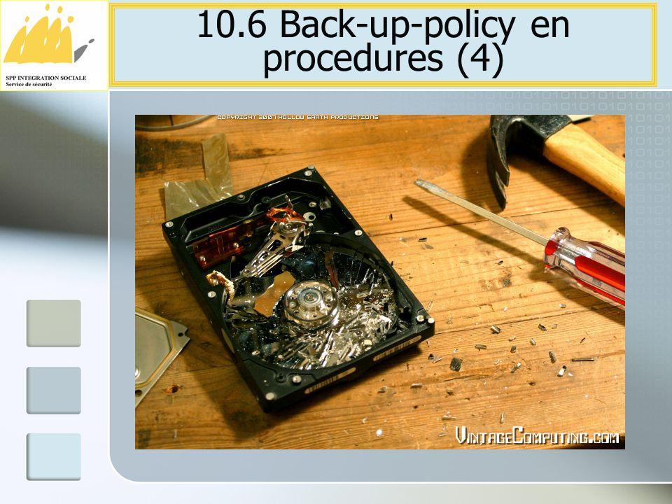 10.6 Back-up-policy en procedures (4)