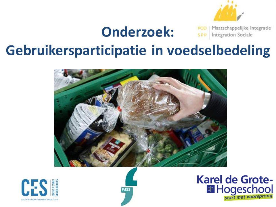 Noodhulp onder druk Stijgend gebruik van voedselhulp Voedselhulpbank: 90 000 personen in 2000 en 117 440 in 2011 BIRB : 204 000 personen in 2011 Dreigende daling EG-goederen: – Geleidelijke afname tot 2013.