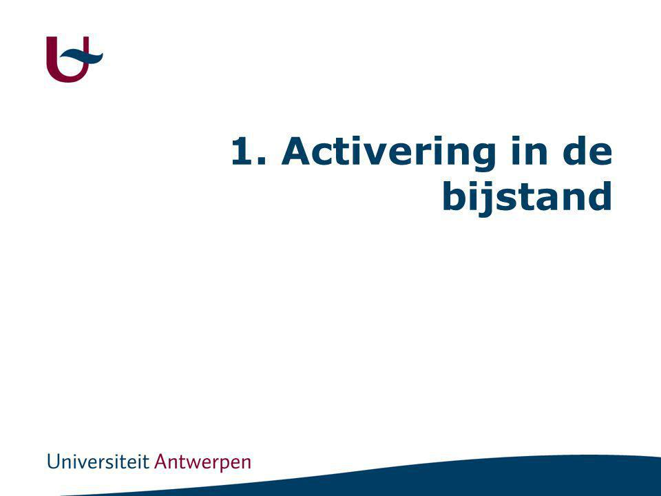 1. Activering in de bijstand
