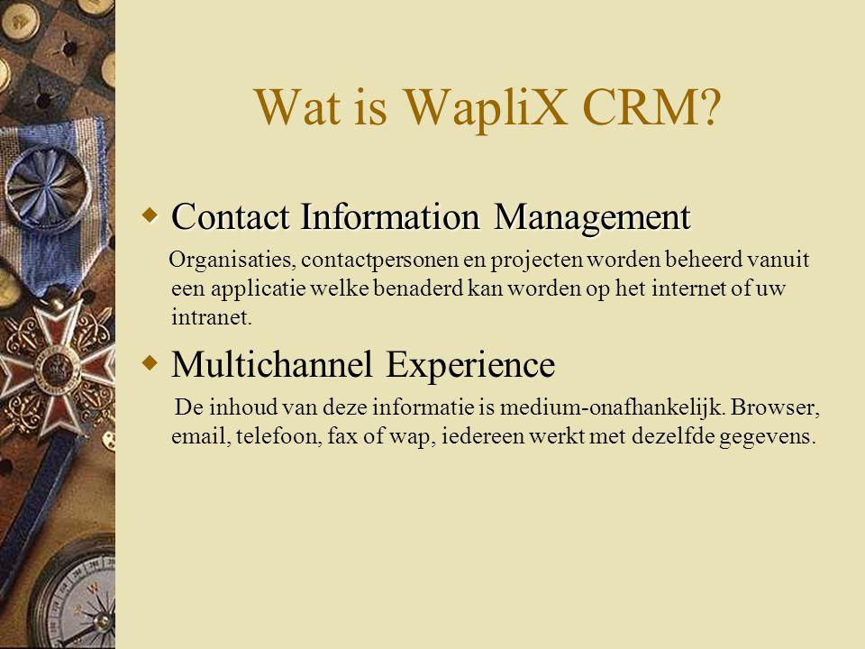 Wat is WapliX CRM.