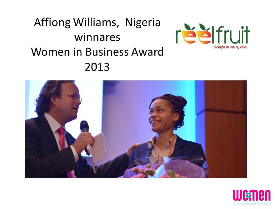Affiong Williams, Nigeria winnares Women in Business Award 2013