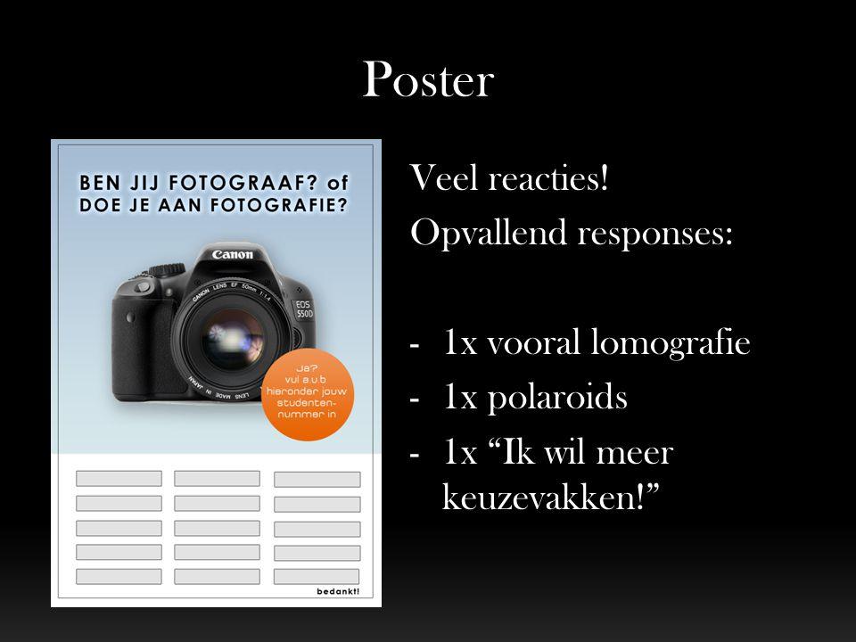 Poster Veel reacties.