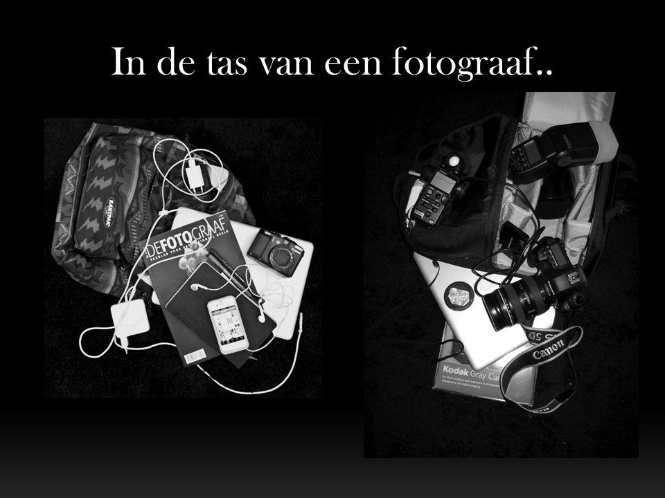 In de tas van een fotograaf..