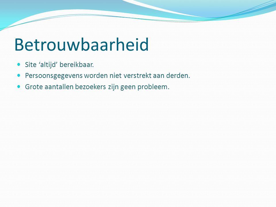 Snelheid Laadtijden van de Webshop zo laag mogelijk.