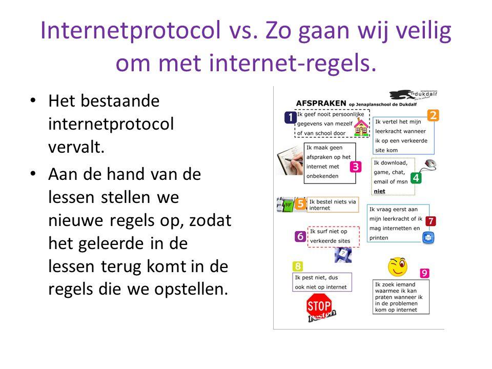 Internetprotocol vs. Zo gaan wij veilig om met internet-regels. Het bestaande internetprotocol vervalt. Aan de hand van de lessen stellen we nieuwe re