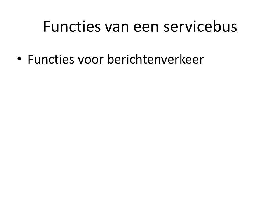 Functies van een servicebus Functies voor berichtenverkeer