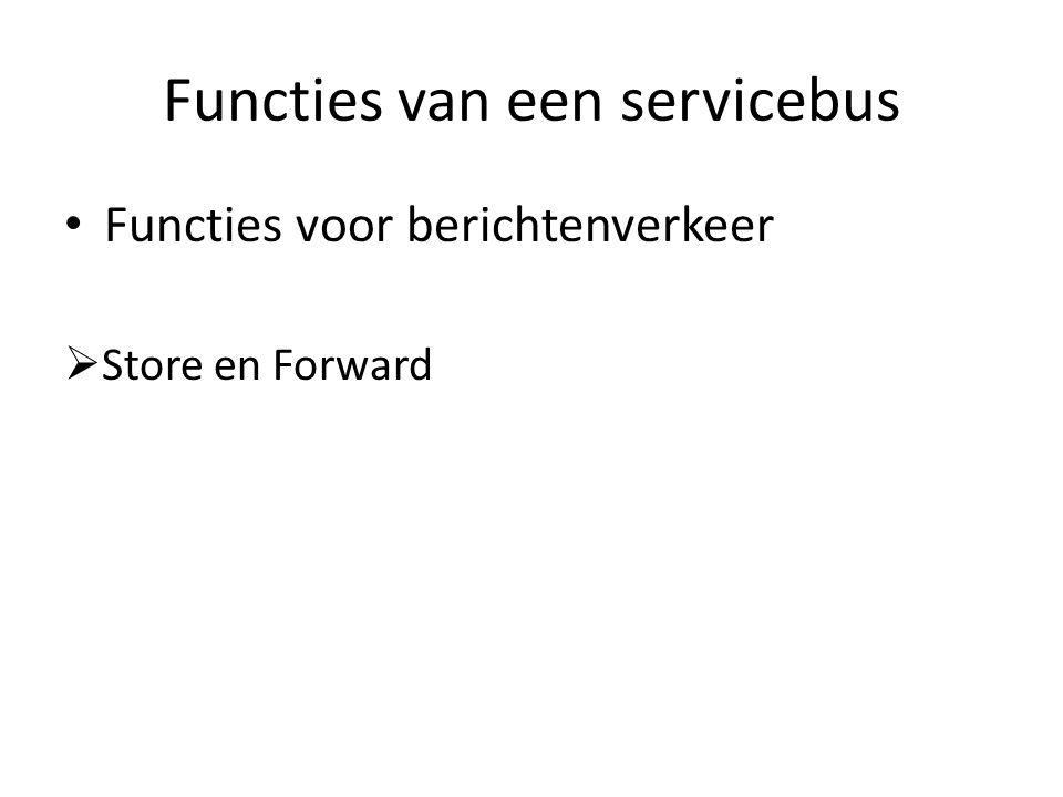Functies van een servicebus Functies voor berichtenverkeer  Store en Forward