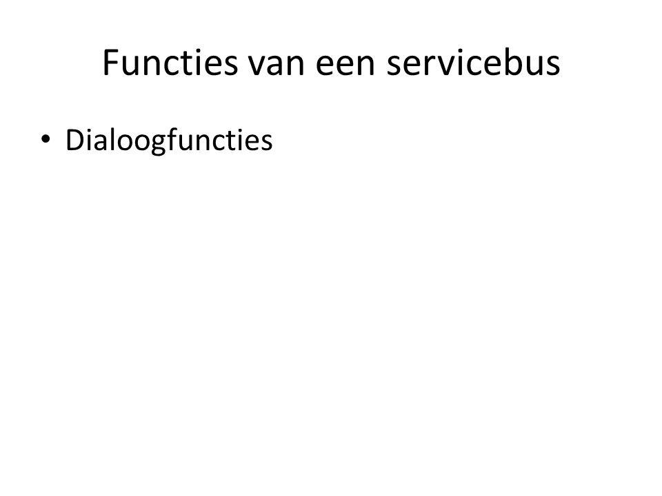 Functies van een servicebus Dialoogfuncties