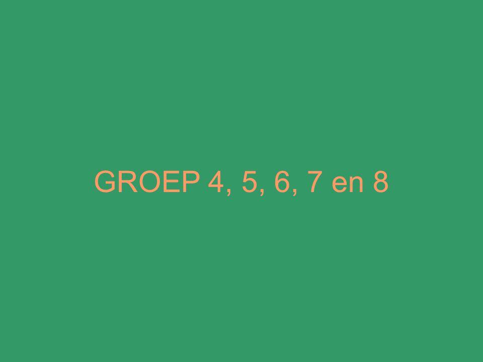 GROEP 4, 5, 6, 7 en 8