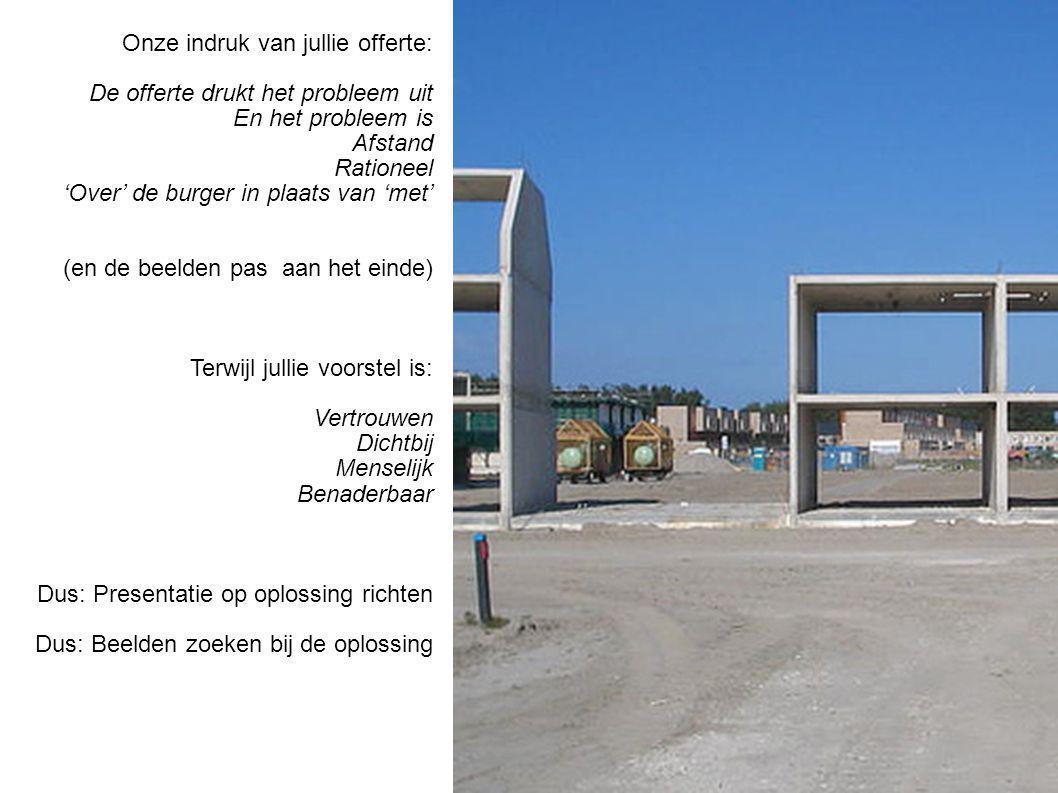 1 Hou de opdrachtgever een spiegel voor Gemeente maakt veel mogelijk maar waar is de gemeente in de beleving van de burger?