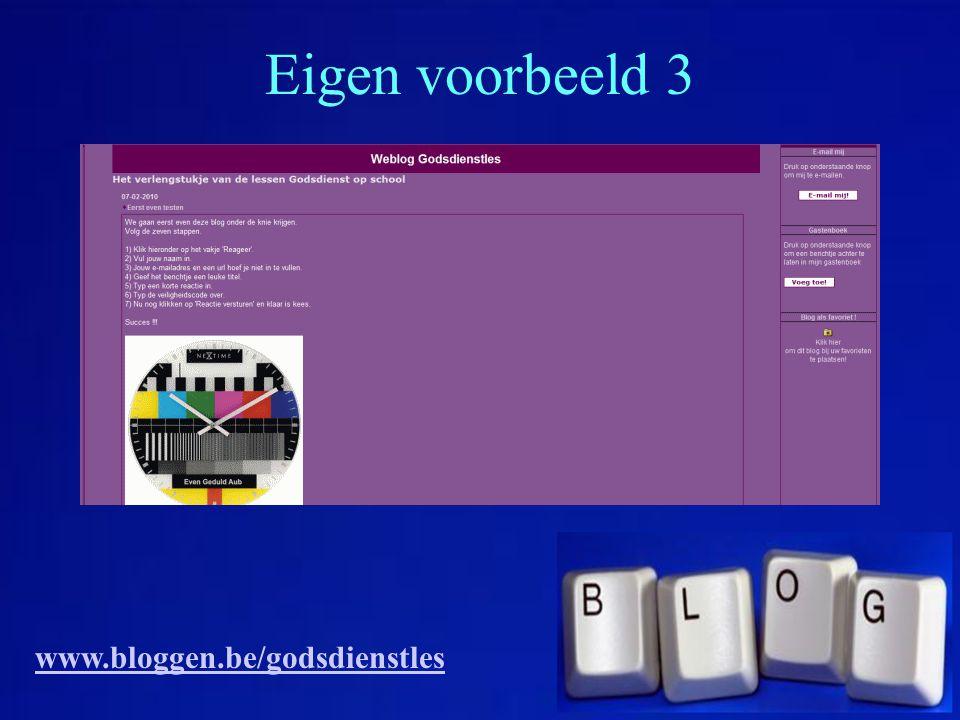 Een waaier aan mogelijkheden www.bloggen.be/ictdag