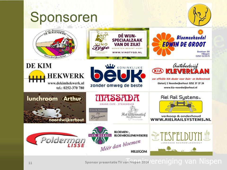 Sponsoren 11 Sponsor presentatie TV van Nispen 2014