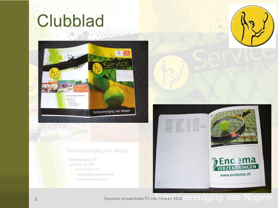 Clubblad 8 Sponsor presentatie TV van Nispen 2014
